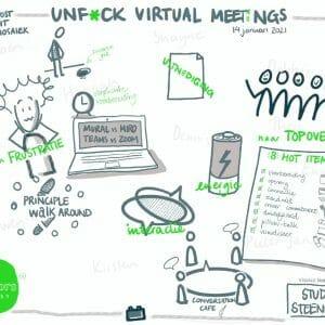 Unf*ck virtual meetings, visueel verslag
